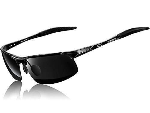 ATTCL Men's HOT Fashion Driving Polarized Sunglasses for Men Al-Mg metal Frame