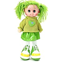 ToyTree Stuffed Soft Cute Doll With LED Light And Music Kids Birthday 35 Cm (Green)