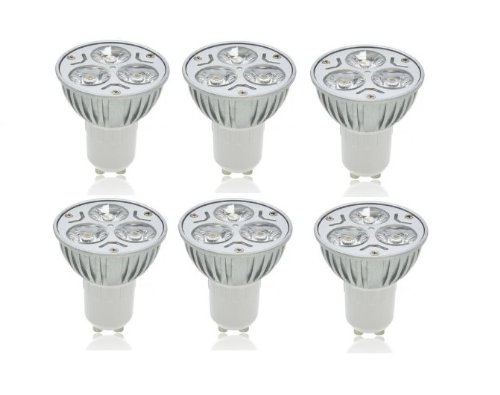 Triangle Bulbs 55961 Led 6-Watt Dimmable Gu10 Mr16 60-Degree High Power Equivalent Light Bulb, Warm White, 6-Pack