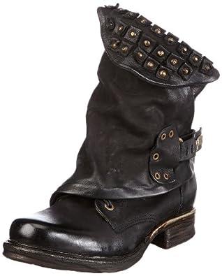 airstep 717206 women 39 s biker boots black schwarz nero 6002 size 4 37 eu. Black Bedroom Furniture Sets. Home Design Ideas