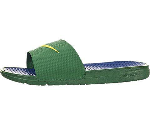 Nike Benassi Solarsoft Slide - Pine Green / Varsity Maize-Varsity Royal, 8 D Us