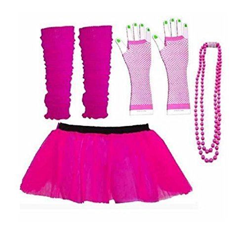 Rush Dance 80s Fancy Costume Set - Tutu with Accessories.