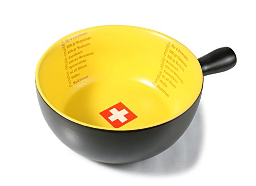 Artestia Ceramic Cheese Fondue Cooking Pot -- Swiss Style