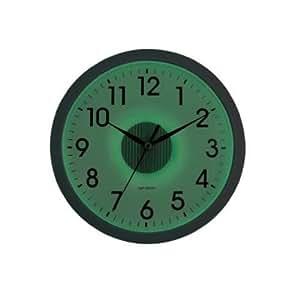 kg 12 smartlite glow in the dark wall clock in silver for
