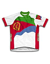 Eritrea Flag Short Sleeve Cycling Jersey for Women