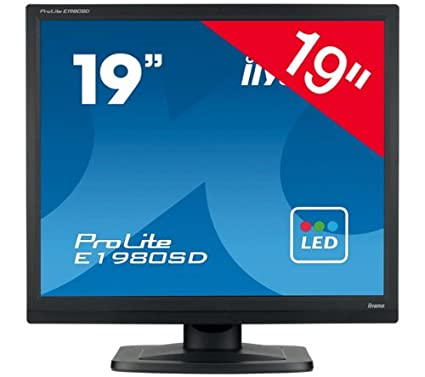 Ecran LCD 19 pouces IIYAMA PROLITE E1980SDB1 NOIR 19\