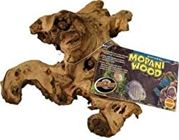 Reptile Mopani Wood for Aquariums Size: Medium (2'' H x 6'' W x 22'' L)