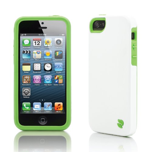 Innovez Eco Friendly Interchangeable iPhone 5 Case (White/Green)