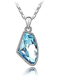 Crunchy Fashion Asymmetrical Crystal Pendant Necklace