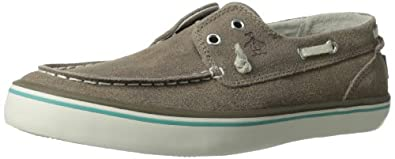 Original Penguin Men's Catamaran Boat Shoe,Taupe Crackle,7 M US