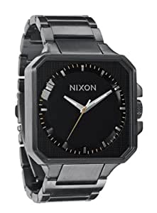 Nixon Quartz Platform Square Black Dial Men's Watch A272-680