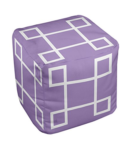 E by design Geometric Pouf, 13-Inch, 1Heather