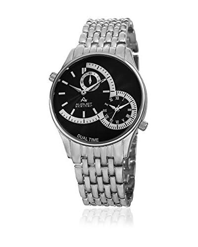 August Steiner Reloj de cuarzo AS8141SSB Plateado / Negro 42 mm