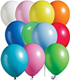Assorted Bright Tone Latex Balloons Package of 100