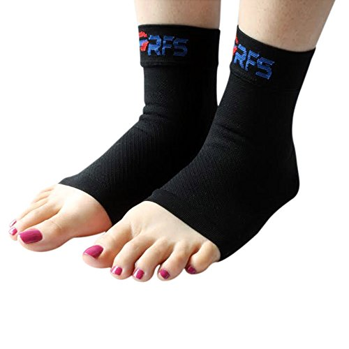 Plantar Fasciitis Foot Compression Sleeves (Pair) - Lightweight Ankle Brace - Relief for Heel Spurs, Arch Pain, Foot Pain, And Discomfort - Best Support for Running, Hiking, Sports & Everyday Wear - 100% Money Back Guaranteed! (Medium)