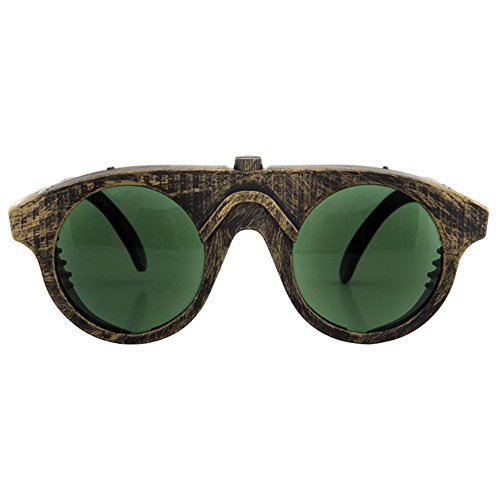 Forgeman Glasses Steampunk Goggles Green Gold Victorian Costume Accessory