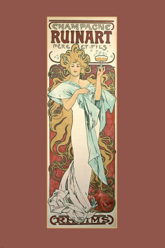 vintage-french-alphonse-mucha-ad-for-ruinart-champagne-20s-woman-24x36