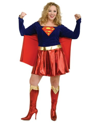 Supergirl Plus Size Halloween Costume - Adult Plus