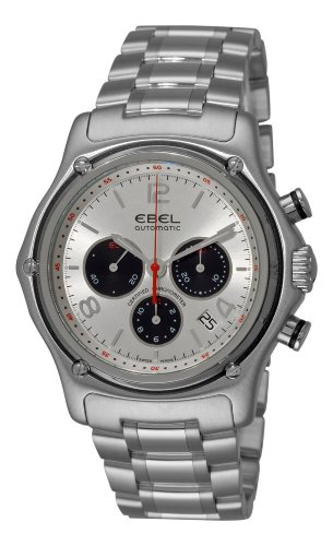 Ebel Men's 9137260/26567 1911 Automatic Chronograph Silver Dial Watch