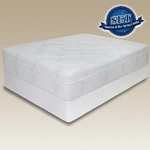 sleep master 12 inch memory foam mattress set with bi fold boxspring queen. Black Bedroom Furniture Sets. Home Design Ideas