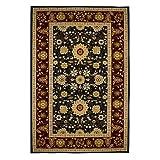 Area Rugs 8x10 Traditional Oriental Floral ,Burgundy,Black,carpet,Soft Rug,Living Room,dining room, foyer