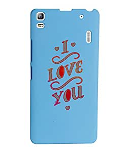 KolorEdge Back Cover For Lenovo A7000 - Sky Blue (1393-Ke15174LenovoA7000SBlue3D)
