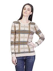 Kalt Women's Cotton Sweater (W136 S _Multicolour_Small)