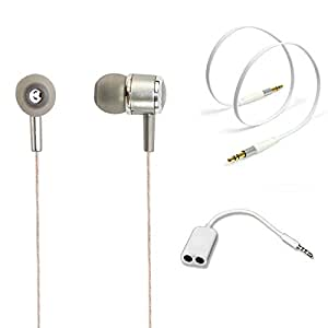 TrendyIndia Combo Accessory Perfumed Handsfree With Handsfree Splitter, Aux Cable For Vivo Y27