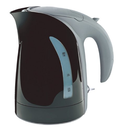 10 Cup / 1.8 Liter Black Milano Cordless Electric Kettle By Zuccor (Boil-Dry Protected / U.K. Made Heat Control)