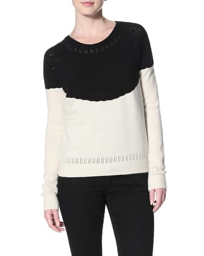 Shae Women's Colorblock Pointelle Sweater