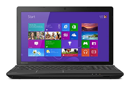 Toshiba Satellite C55-A5300 15.6-Inch Laptop (Intel Celeron Processor 1037U, 4GB RAM, 500GB Hard Drive, Multiformat DVD±RW/CD-RW drive, Windows 8) (Laptop Toshiba Satelite 5300 compare prices)