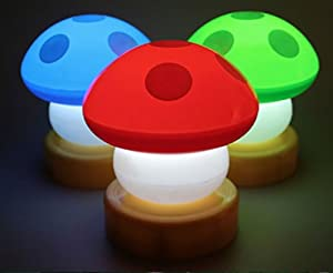 VB Magic Touch Mushroom Bedside Nursery Lamps (3x SETS) from VB BARGAINS
