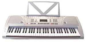 61 Keys Silver Keyboard Full Size Student