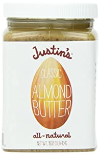 Justin's Nut Butter Natural Classic Almond Butter, 16 oz Plastic Jar, 3 pk