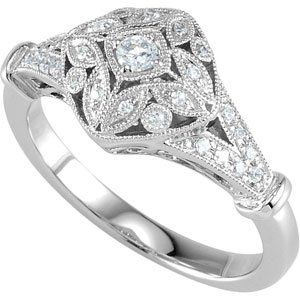Cubic Zirconia Ring Sterling Silver Size 05.00 Cubic Zirconia Ring
