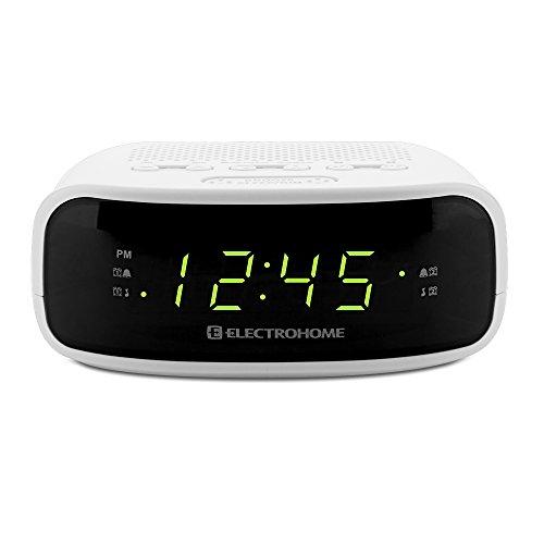 electrohome digital am fm clock radio with battery backup. Black Bedroom Furniture Sets. Home Design Ideas