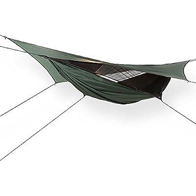 Hennessy Hammock Expedition Asym Zip Hunter Green/Black Fly Trim M16
