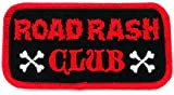 Road Rash Club Patch Embroidered Iron-On Motorcycle Biker Emblem