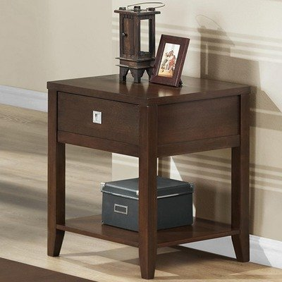 Cheap Baxton Studio New Jersey Wood Modern End Table, Brown (RT169B-OCC)