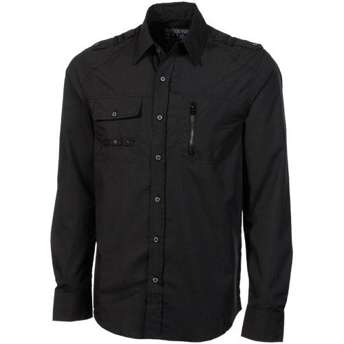 Affliction Total Recall Slim Fit Button-Up Shirt - Black (XX-Large)