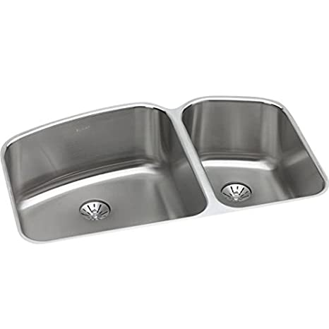 Elkay ELUH31229RPD Gourmet 21 x 32-3/4 inches Double Basin Undermount Stainless Steel