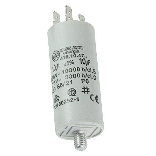 spares2go Start Run Motor Kondensatoren für Bosch Geräte 331.13215uF MF bis 80uF Spaten Connector/Tags 10UF
