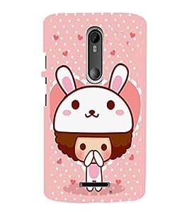 EPICCASE Bunny me Mobile Back Case Cover For Moto X 3rd Gen (Designer Case)