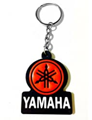 Keychain Yamaha Red Black Rubber Synthetic Metal Keyring