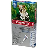 Bayer K9 Advantix II Blue 4-Month Flea & Tick Drops for Extra Large Dogs, 55+ lbs.