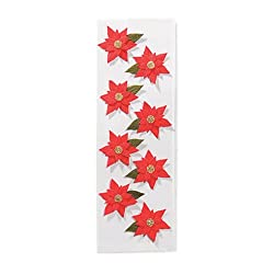 Martha Stewart Crafts Dimensional Poinsettia Stickers