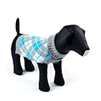 PanDaDa Pet Puppy Dog Sweater Knit Jumper Jacket Clothes Coat Apparel Gray