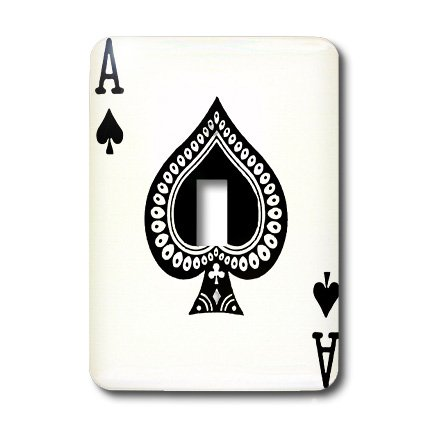 3dRose LLC lsp_76552_1 Ace Of Spades Playing Cardm Black Spade Suitm Gifts For Cards Game Players Of Poker Bridge Games Single Toggle Switch