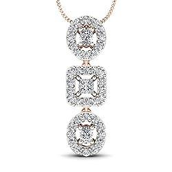 Stylori 18k Rose Gold and Diamond The Winners Podium Pendant