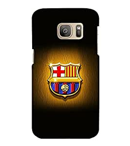 printtech Barcelona Football Logo Back Case Cover for Samsung Galaxy S7 :: Samsung Galaxy S7 Duos with dual-SIM card slots